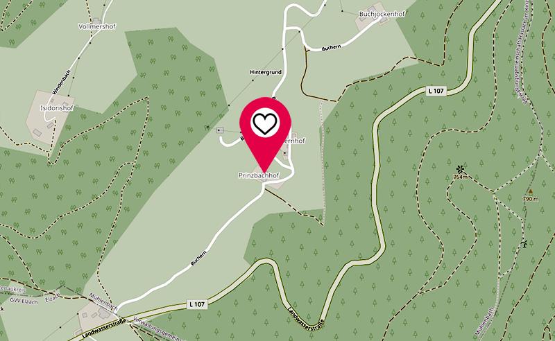 Standort Karte Prinzbachhof